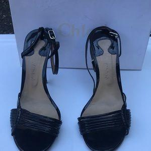 Chloe black strap sandals